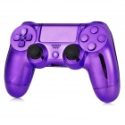 Protective ABS Cases + Joystick Caps + Keys Set for PS4 Controller - Purple