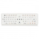 EA-02 2,4 GHz Wireless-2-in-1 Air Mouse w / Qwertz-Tastatur - Weiß + Orange (2 x AAA)