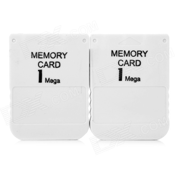1MB Memory Card for PS1 - Grey (2 PCS)