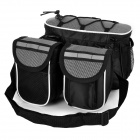 Yanho Multifunctional Bicycle Handlebar Mounted Storage Bag - Black