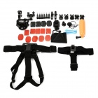16-in-1 Multifunctional Accessories w/ Chestbelt, Mount, Helmet Belt, Base + More for Gopro