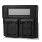 "3."" LCD Dual Slot NP-FW50 Battery Charger for SONY NEX5C NEX5N NEX3C NEX-5C A55 A33 - Black (EU)"