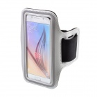 Protective Neoprene + PVC Sport Armband for Samsung Galaxy S6 / S6 Edge - Silver + Black