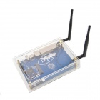BPi R1 Wireless Smart Router + R1 Acrylic Enclosure Case + 3dB R1 Antenna - White + Light Blue