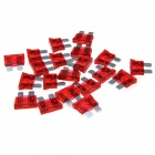 Car Vehical Self Control Easy Handle Mini Flat Plug Blade Fuses (20 PCS, M, 10A Red)
