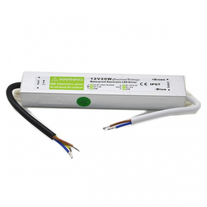 Waterproof External 20W LED Power Supply Driver (110~250V)