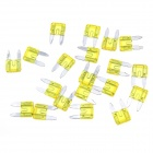 Car Vehical Self Control Easy Handle Mini Flat Plug Blade Fuses (20 PCS, S, 20A Yellow)