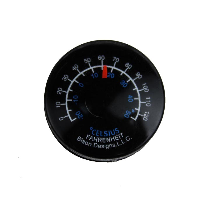 Plastic Circular Household / Industry Thermometer - Black