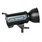 GODOX QS-600 studio kamera video flash fylle lys kit -black (eu plugg)
