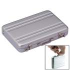 SZ0062-1 Mini Password Suitcase Style Aluminium Card Holder Case Box - Silver