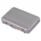 SZ0062-1 Mini Password Suitcase Style Card Holder Case Box - Silver
