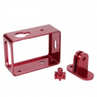 PANNOVO CNC Aluminum Protective Shell Frame Case w/ Mount for Xiaomi Xaioyi Camera - Red