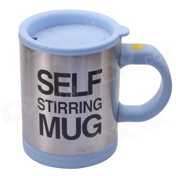 ZJ0120-1 Creative Stainless Steel Self Stirring Mug - Blue (350ML)