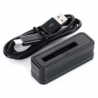 Battery Charger w/ Micro USB Cable for Samsung Note Edge/N9150 - Black