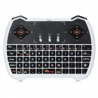 V6A USB 2.0 71-Key 2.4GHz Wireless Multimedia Mini Mouse Keyboard w/ Touchpad - White + Black