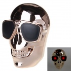 Skull Design 8800mAh Li-ion Battery Magic Power Bank w/ LED Indicator - Champagne Gold (DC 5V)