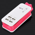 5V 4.2A 4-Port USB Power Adapter Charger w/ UK Socket / US Plugss