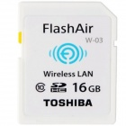 Toshiba SDHC 16GB Class 10 WiFi Flash Air Wireless (W-03) SDHC Memory Card with Hnv Minicase