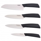"RIMON Chic Ceramic Zirconia Knife 4"" / 5"" / 6"" / 7"" Chef Knife Set - Black + White (4 PCS)"