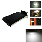 IN-Color Solar Powered Side-Lighting Ultra-Thin White Light LED Wall Lamp - Black + White