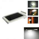 IN-Color Solar Powered Side-Lighting Ultra-Thin White Light LED Wall Lamp - White + Black