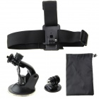 Car Long Arm Bracket + Triangular Adapter + Storage Bag + Head Band Pack for GoPro Hero3+/3/2/1