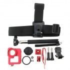 Selfie Stick + Camera Case + plastic band + Mount Base + 2 lange schroeven voor GoPro Hero 3 + / 3/2/1