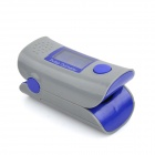 Portable OLED Fingertip Pulse Oximeter SpO2 Heart Rate Monitor - Greyish White + Dark Blue (2 x AAA)