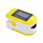 "Portable 1.1"" OLED Fingertip Pulse Oximeter SpO2 Heart Rate Monitor - White + Yellow (2 x AAA)"