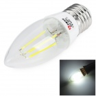 LeXing Lighting E27 4W COB LED Filament Bulb Cold White (85~265V)