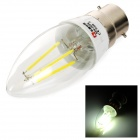 Lexing B22 4W 320lm 4500K 4-COB  LED Filament White Light Candle Bulb (85-265V)