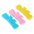 Sweet Lovely Bowknot Style Sealing Clamp Tool - Pink + Yellow + Blue (3 PCS)