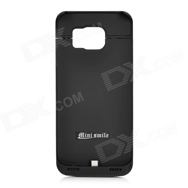 MINI SMILE 4000mAh Power Case w/ Holder for Samsung S6 Edge - Black