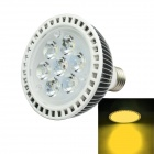 Jiawen PAR30 E27 7W LED Spotlight Quente 700lm White Light 3200K - White + Silver ( AC 85 ~ 265V )