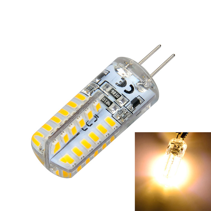 G4 5W 500lm 48-LED Warm White Light Silicone Seal Corn Bulb (DC 12V)