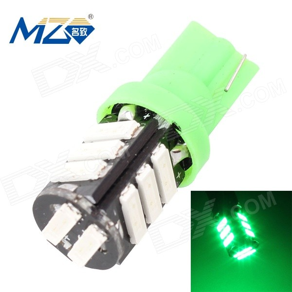 MZ T10 5.5W 660lm Green 11-SMD 7020 LED Car Light (12V)