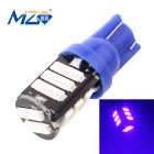 MZ T10 5.5W LED Car Clearance Lamp / License Plate / Steering Light Blue 480nm 660lm SMD 7020 (12V)