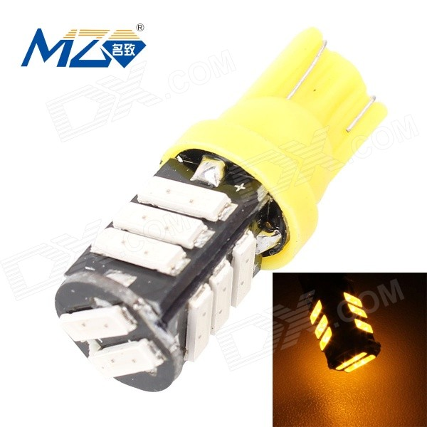 MZ T10 5.5W 660lm 11-SMD 7020 LED Yellow Light Car Lamp (12V)