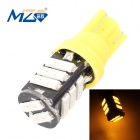 MZ T10 5.5W 660lm 11-SMD 7020 LED Yellow Light Car Clearance / License Plate / Steering Lamp (12V)