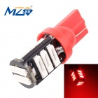 MZ T10 5.5W 660lm Red 11-SMD 7020 LED Car Clearance Lamp / License Plate / Steering Light (12V)