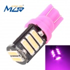 MZ T10 5.5W 660lm Pink 11-SMD 7020 LED Car Clearance Lamp / License Plate / Steering Light (12V)
