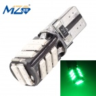 MZ T10 5.5W 660lm Green 11-SMD 7020 Canbus Error-Free LED Car Clearance Lamp / License Plate Light