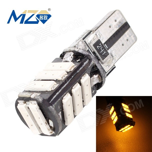 MZ T10 5.5W Error-Free 11-7020 SMD 660lm 560nm Yellow Car Lamp
