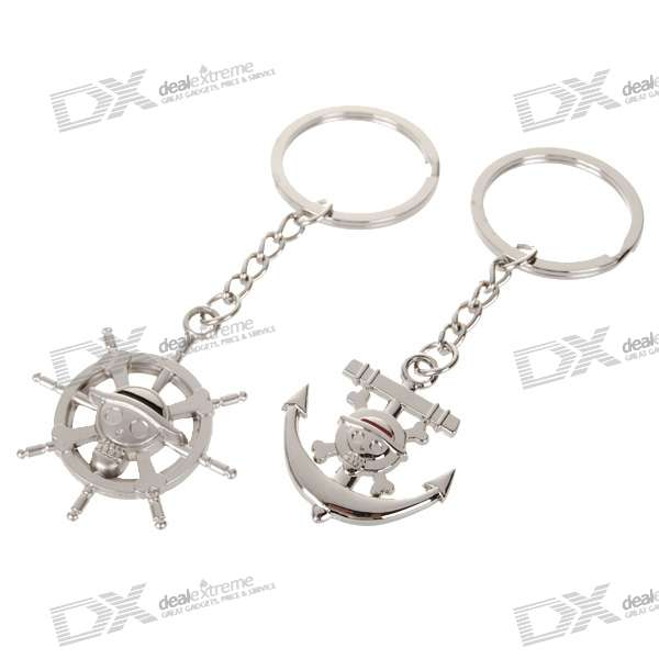 One Piece Zinc Alloy Lovers Keychains (2-Piece Set)