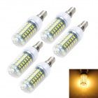 Marsing E14 12W LED Corn Bulb Lamp Warm White Light 3000K 1200lm 69-SMD 5730 (AC 220~240V, 5PCS)
