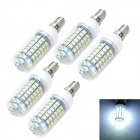 Marsing E14 12W LED Corn Bulb Lamp White Light 6000K 1200lm 69-SMD 5730 (AC 220~240V, 5PCS)