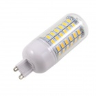 KINFIRE G9 12W LED Corn Lamp Warm White 3500K 960lm SMD 5730 - White + Silver (AC 220~240V)