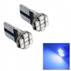 Merdia T10 0.3W LED Car Reading Lamp / License Plate Light Blue 480nm 19lm SMD 1210 (12V / 2PCS)