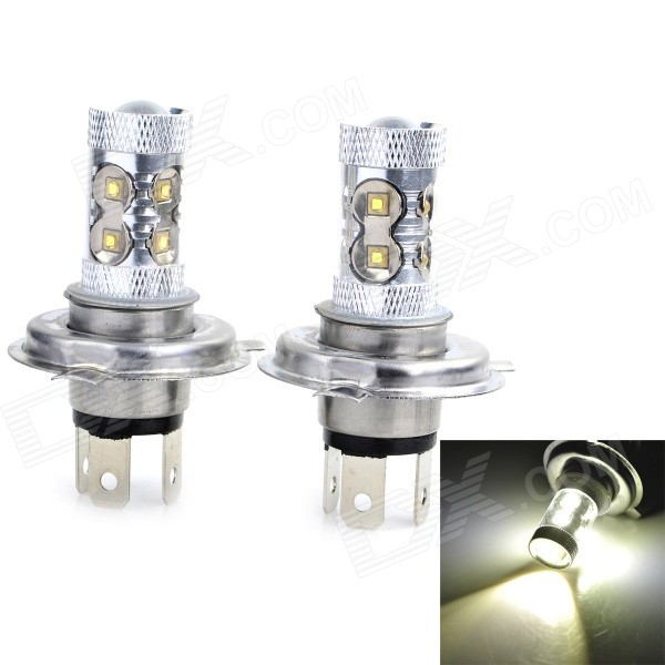 Marsing H4 50W 6500K 3000lm White Car Lamp (DC 12~24V / 2PCS)