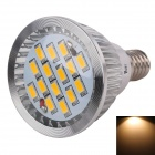 WaLangTing E14 5W 320lm Spotlight Warm White 3200K 15-SMD 5730 LED - Silver (AC 110~240V)